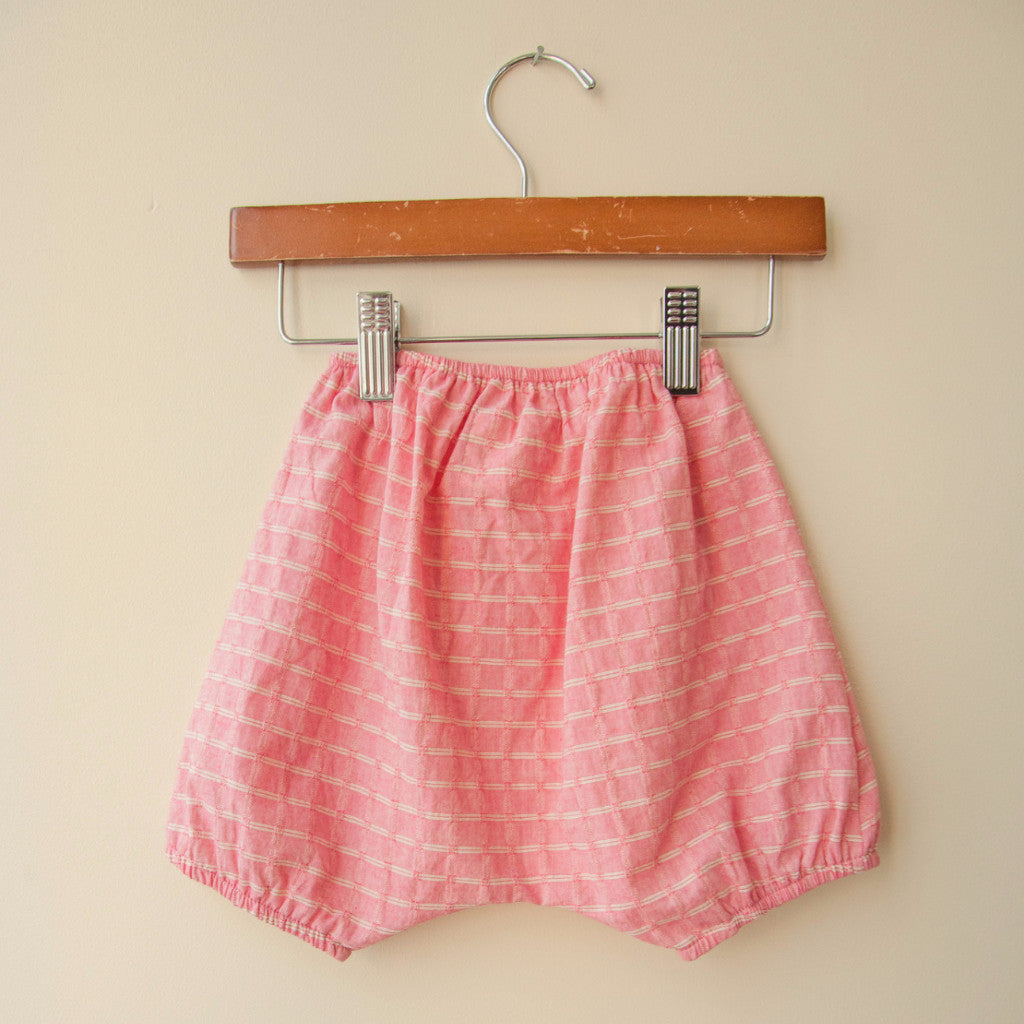 boy+girl Baby Girl Poppy Bloomer in Pink Check | BIEN BIEN