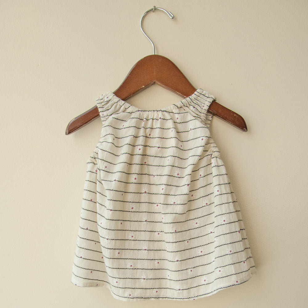 boy+girl Poppy Baby Girl Top in Cream Daisy | BIEN BIEN