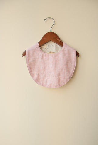boy+girl Baby Bib in Heather Natural | BIEN BIEN