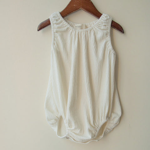 boy+girl Baby Girl Bubble One-Piece in Natural | BIEN BIEN