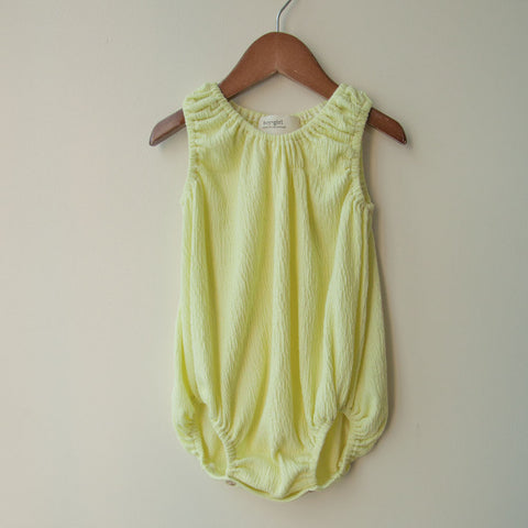 boy+girl Baby Girl Bubble One-Piece in Lemon | BIEN BIEN
