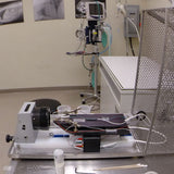 Rodent Examination Table with Sliding Track and Articulated Arms