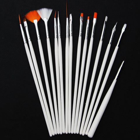15 Piece Nail Art Brush Set