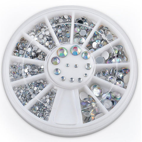 Multi-Size Clear Rhinestone Wheel