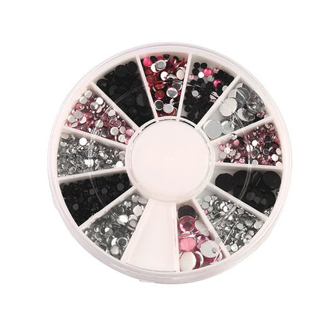 Tri-Coloured Rhinestones Wheel