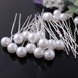 White Pearl Barrettes (20 pcs)