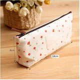 Slim Canvas Makeup Pouch