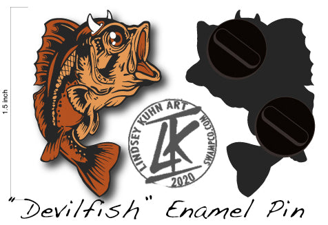 DEVILFISH PIN