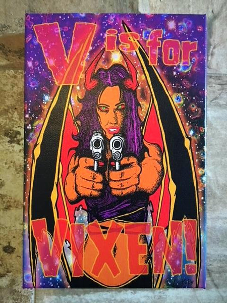 V is for VIXEN! CANVAS