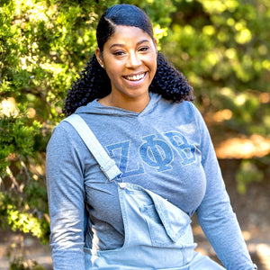 Zeta Phi Beta ΖΦΒ Long Sleeve Tee with Hoodie