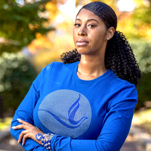 Zeta Phi Beta Circle Dove Long Sleeve Tee