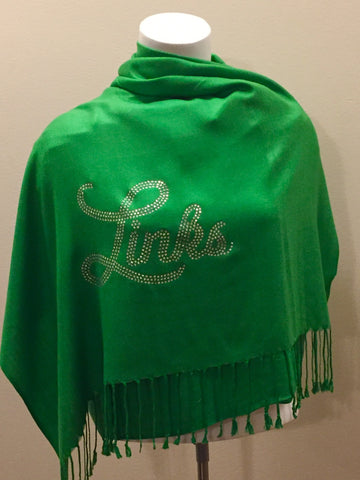 Links Green Rhinestone Pashmina