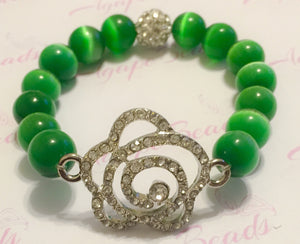 Links Crystal Rose Bracelet