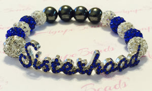 Zeta Phi Beta Blue Crystal Sisterhood Bracelet