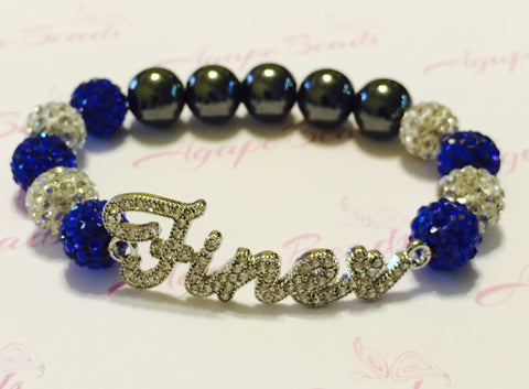 Zeta Phi Beta Clear Crystal Finer Bracelet