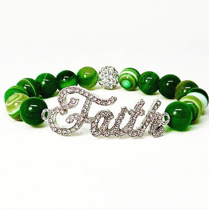 Faith Bracelet - Green
