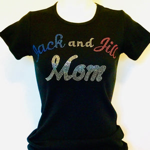 Jack and Jill Mom Rhinestone Tee