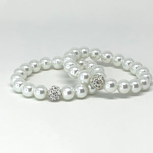 White Pearl Jack and Jill Bracelet Set