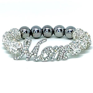 Crystal Jack and Jill Mom Bracelet - Crystal Balls