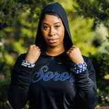 Zeta Phi Beta Soror Long Sleeve Tee with Hoodie