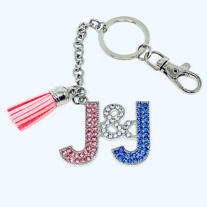 Crystal Jack and Jill Purse Charm/Key Chain