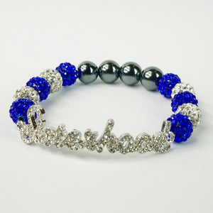 Zeta Phi Beta Clear Crystal Sisterhood Bracelet