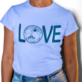 Jack and Jill Love Tee - Blue Letters