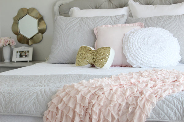 Shabby Chic Ruffle Throw Blankets - 4 colors