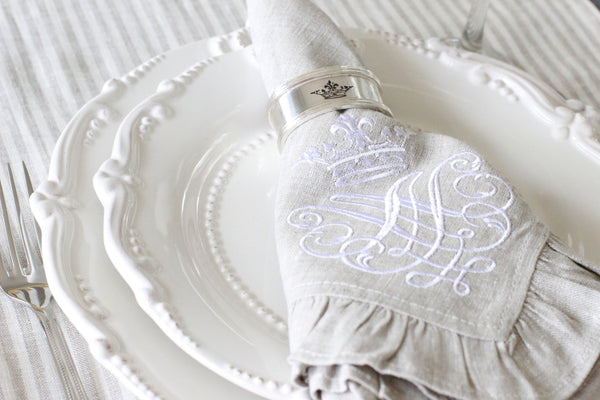 French Linen Ruffle Napkins
