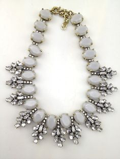 Crystal Leaf Necklace - 2 colors