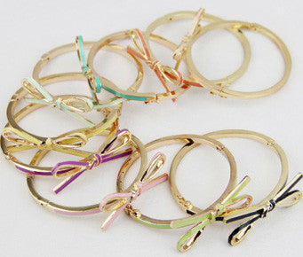 Bow Stretch Enamel Bracelets