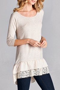 Lace Ruffle Layer Tunic