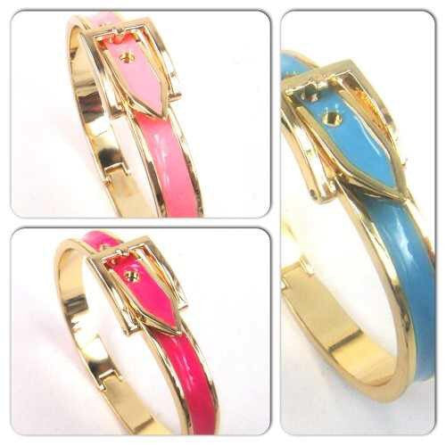 Colored Enamel Buckle Bracelet