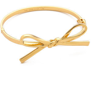 Kate Skinny Mini Gold Bow Bracelet
