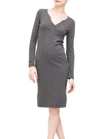 Fitted Henley Dress - Kersh