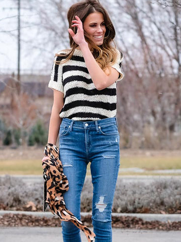 Striped Tape Tee