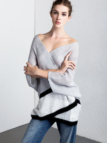 Colorblock Tissue Cardigan - Kersh