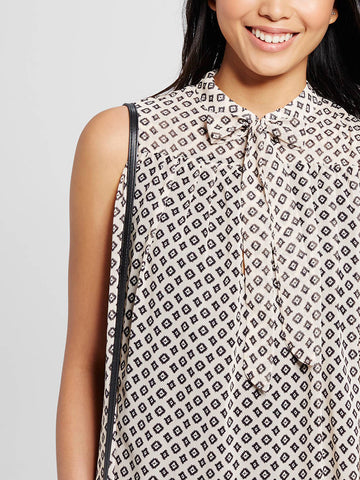 Sleeveless Mini w. Neck Tie