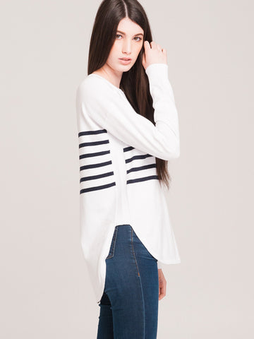 Curved Sweater Pullover
