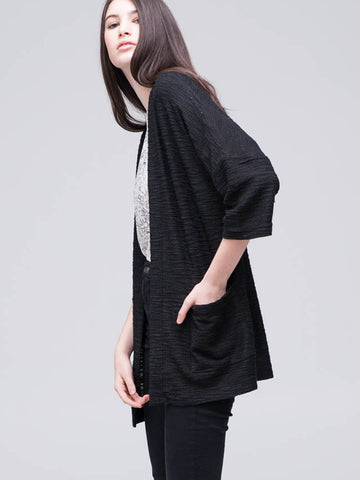 Casual Patch Pocket Cardi