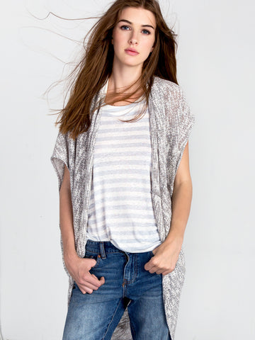 Cocoon Wrap Sleeveless Cardigan