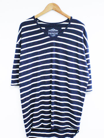 3/4 Sleeve Striped Tunic - Kersh