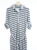Convertible Striped Shirt Dress - Kersh