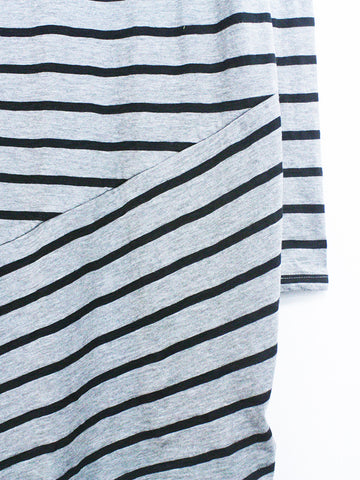 Striped Slub Tunic Dress - Kersh