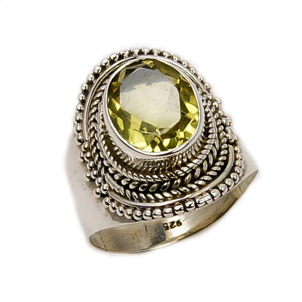 Brilliant Sunshine' Sterling Silver Citrine Ring, Size 6.75 - The Silver Plaza
