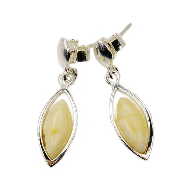 Sterling Silver Butterscotch Baltic Amber Earrings - The Silver Plaza