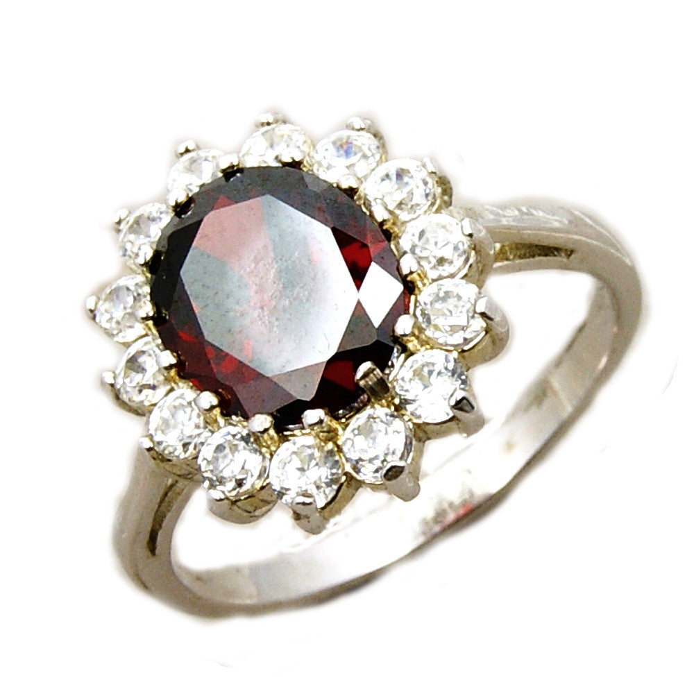 Passionate Love Red Cubic Zirconia & Sterling Silver - Emavera