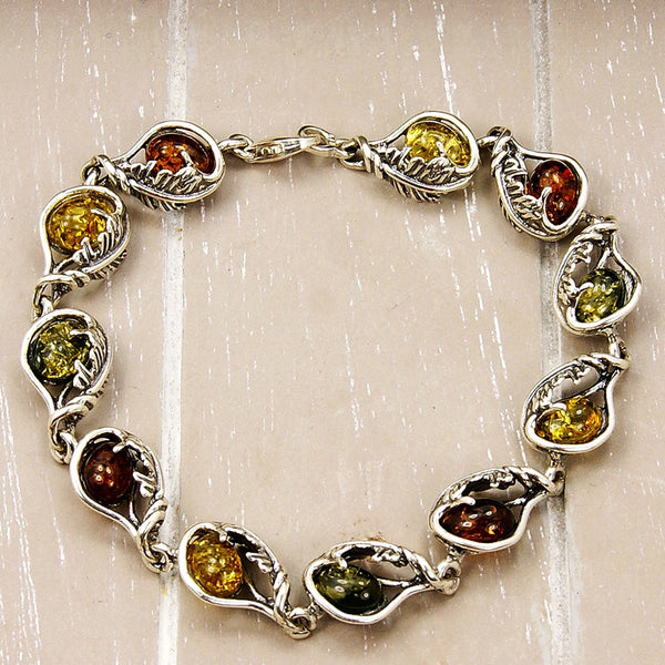 The Secret Garden Baltic Amber & Sterling Silver Bracelet - Emavera - 1