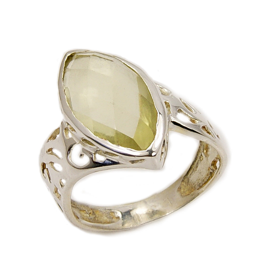 Sunshine' Citrine & Sterling Silver Ring, Size 6.5 - The Silver Plaza