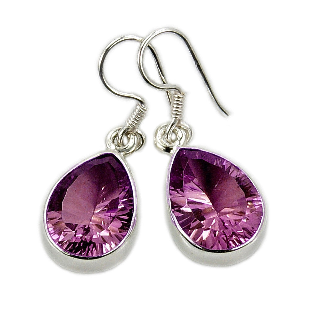 Incredible Color Change (Green to Purple) Alexandrite & Sterling Silver Dangle Earrings Jewelry - The Silver Plaza